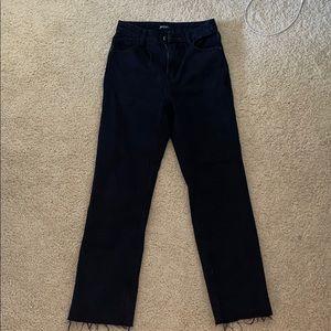 NastyGal - size 8 - crop straight black jeans